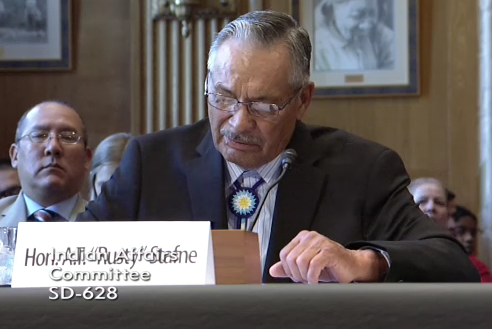 "The Honorable A.T. ""Rusty"" Stafne, Chairman of the Fort Peck Assiniboine and Sioux Tribes, described the considerable need for victim services at Fort Peck Reservation."